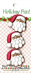Knopfset Santa / Weihnachtsmann Knöpfe