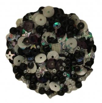 Black Tie Schwarz-Weißes Perlen- und Paillettenset 28 Lilac Lane