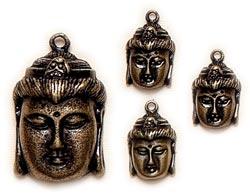 Antique Thai Buddha - Antikgold - 4 Stück
