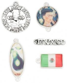 Mexiko / Mexico - Acrylic & Metall Charms - 4 Stück