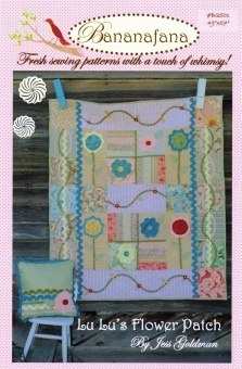 Lu Lu's Flower Patch - Shabby Chic Romantik Quilt - Schnittmuster