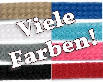 Dicke Hoodiekordel / Anorakkordel - 10mm Breite - VIELE FARBEN! METERWARE