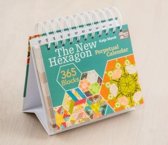 The New Hexagon 365 Blocks - Jahresunabhängiger Patchwork-Tischkalender