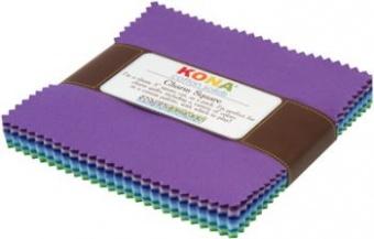 Charm Square Paket Sunset Palette - Kona Cotton Solids