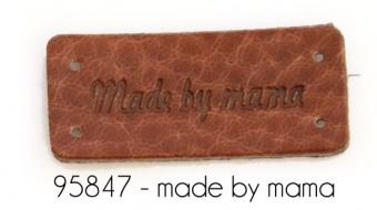 "Lederlabel ""Made by Mama"" Label"