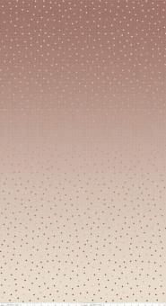 Roségoldener Ombré geometrischer Farbverlauf - Riley Blake Gemstones Neutral Color Rose Pünktchenstoff