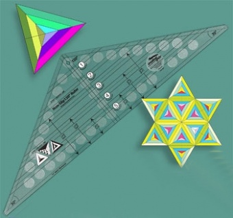 120 Grad Patchworklineal - 120 Degree Triangle Quilt Ruler - Creative Grids Non Slip Ruler
