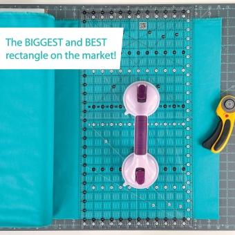 "JUMBO Big Easy 12 1/2"" x 24 1/2"" Inch-Patchworklineal - Creative Grids Non Slip Ruler - Rollschneidelineal"