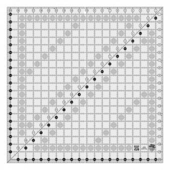 "20 1/2"" x 20 1/2"" Inch-Patchworklineal Quadrat - Creative Grids Non Slip Square Ruler - Quadratisches Rollschneidelineal"
