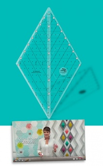 60 Grad Rauten Patchworklineal - 60 Degree Diamond Quilt Ruler - Creative Grids Non Slip Ruler 8 inches