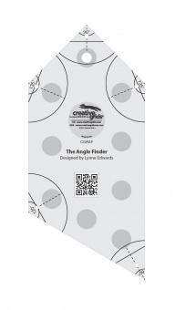 Winkelfinder & Binding Patchworklineal - Creative Grids Angle Finder Quilt Ruler and Binding Tool