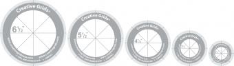 Kreislineale & Kreisschablonen-Set - Rotary Cutting Circles - Creative Grids Non Slip Machine Quilting Tool - Rulerwork Maschinenquiltlineal