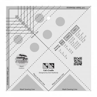 Creative Grids Cat's Cradle Tool Quilt Ruler - Ananas Patchworkblock Patchworklineal
