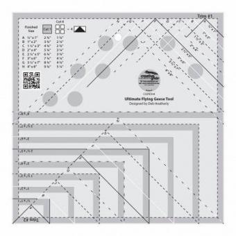 Creative Grids Ultimate Flying Geese Tool Quilt Ruler - Fliegende Gänse Patchworkblock Patchworklineal