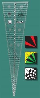 15 Grad Patchworklineal - 15 Degree Triangle Quilt Ruler - Creative Grids Non Slip Ruler Dreieck