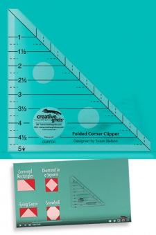 Creative Grids Folded Corner Clipper Tool Quilt Ruler - Eselsohren-Lineal Patchworkblock Patchworklineal