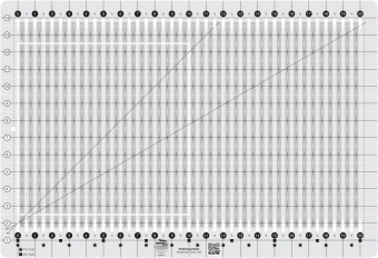 Streifen Patchworklineal - Stripology Ruler - Creative Grids Non Slip Ruler