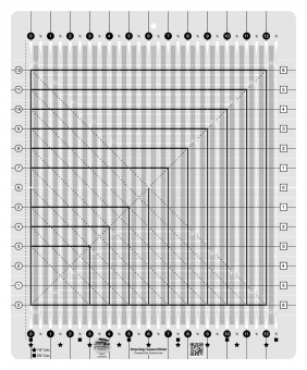Stripology Squared Streifen Patchworklineal - Stripology Ruler - Creative Grids Non Slip Ruler