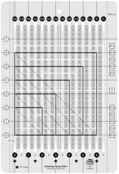 Squared Mini Streifen Patchworklineal - Stripology Ruler - Creative Grids Non Slip Ruler
