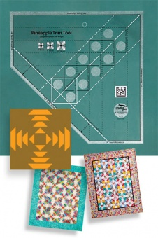 Creative Grids Pineapple Trim Tool Quilt Ruler - Ananas Patchworkblock Patchworklineal