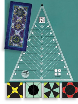 Creative Grids Spider Web Quilt Ruler 45° - Spinnennetz Patchworkblock 45 Grad Dreiecke Patchworklineal