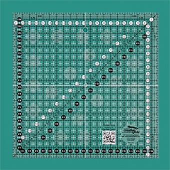 21,5 x 21,5cm Patchworklineal Quadrat - Creative Grids Non Slip METRIC Square Ruler - Quadratisches Zentimeter-Rollschneidelineal