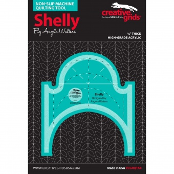 """Angela Walters Quiltlineal """"Shelly"""" - Creative Grids Non Slip Machine Quilting Tool - Rulerwork Maschinenquiltlineal"""