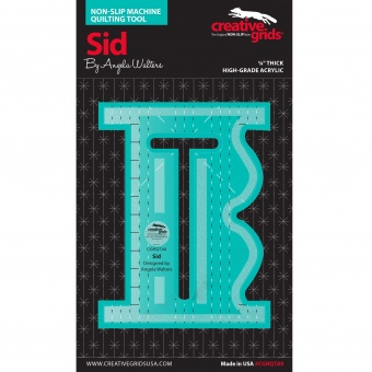 "Angela Walters Quiltlineal ""Sid"" - Creative Grids Non Slip Machine Quilting Tool - Rulerwork Maschinenquiltlineal"