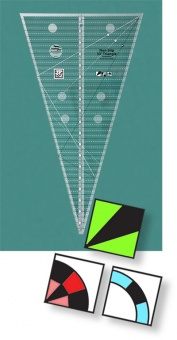 30 Grad Patchworklineal - 30 Degree Triangle Quilt Ruler - Creative Grids Non Slip Ruler