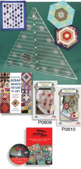 60 Grad Patchworklineal - 60 Degree Triangle Quilt Ruler - Creative Grids Non Slip Ruler 8 inches