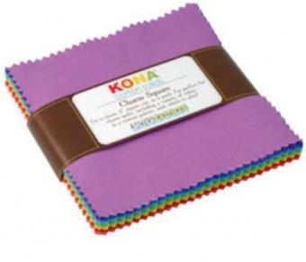Charm Square Paket New Bright Palette - Kona Cotton Solids