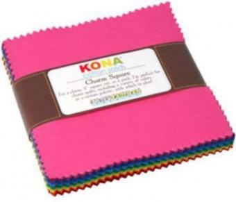 Charm Square Paket Classic Pastel Palette - Kona Cotton Solids