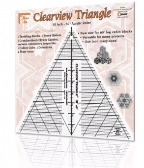 10 inch Clearview Triangle - 60° Lineal - Sara Nephew / Alicias Attic