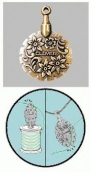 Clover Thread Cutter Pendant - Fadenschneider Medallion