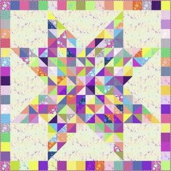 Confetti 2020 Quilt Anleitung - Tula Pink True Colors &Homemade Designerstoffe Pattern - FreeSpirit Patchworkdecke - GRATIS DOWNLOAD!