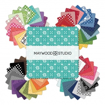 92er Charm Paket Pünktchenstoffe - 5 inch Quadrate Kimberbell Basics by Kimberbell Designs Collection Stoffpaket - Maywood Studios Patchworkstoffe