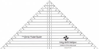 The Strip Tube Ruler - Cozy Quilt Designs Speziallineal / Dreieckslineal
