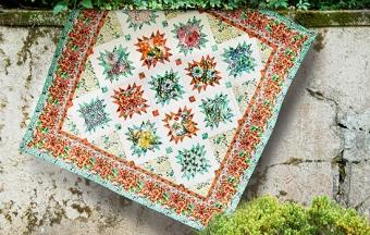 Cottage Garden Quilt - Schnittmuster & Anleitung - GRATIS DOWNLOAD