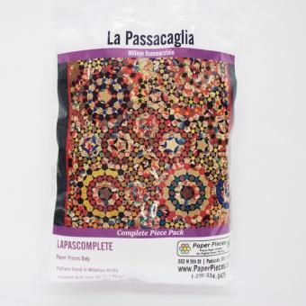 Millefiori Quilts  - La Passacaglia Quilt - Komplettset Papierschablonen Paper Pieces