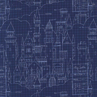 Burgen & Schlösser Märchenstoff- Castle Plans - Magic by Sarah Jane Studios