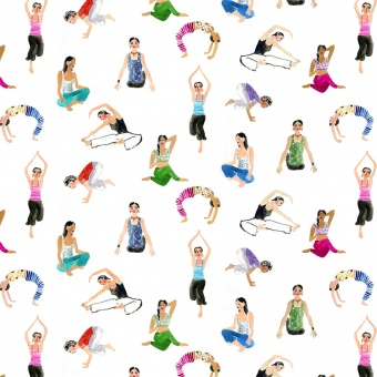 Yoga Motivstoff - No Place Like Om by August Wren Collection Yogastoffe - Dear Stella Patchworkstoffe