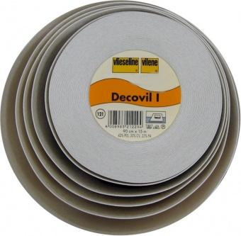 Decovil I / 1 / 121 - Vliesstoff / Schabrackeneinlage mit Lederähnlichem Griff - METERWARE