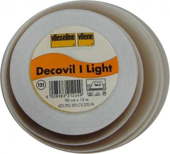 Decovil I Light / 1 / 1225 I - Vliesstoff / Schabrackeneinlage mit Lederähnlichem Griff - 15m Rolle