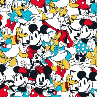 "Original ""Disney Mickey Mouse & Friends Sensational 6 Snapshot  Disneystoff -  Disney Lizenzstoff mit Mickey & Minnie Maus, Donald & Daisy Duck, Pluta, Goofy"
