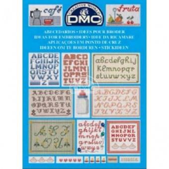 """DMC Stickvorlagen-Heft - Stickideen """"Alphabete & Buchstaben"""" 14098"""