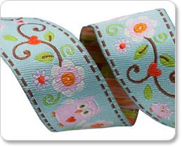 Eulen Webband von Dena Designs - Happi Owls Renaissance Ribbon