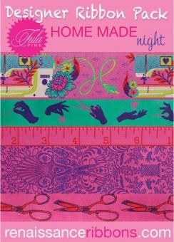 Night HomeMade Tula Pink Designer Ribboon Pack - Renaissance Ribbons Webbänder Set
