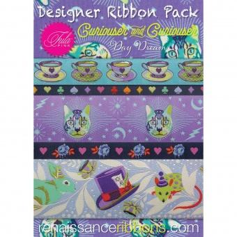 Curiouser & Curiouser Daydream Tula Pink Designer Ribbon Pack - Renaissance Ribbons Webbänder Set - VORBESTELLUNG! ca. Juni 2021