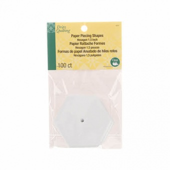 """1 1/2"""" Hexagon / Sechseck Pappschablonen für Paper Pieccing - Papier Sechsecke / Hexagon mit Loch - DRITZ 1,5 inches"""