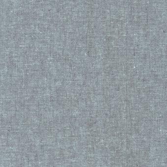 Weicher Leinen & Baumwollstoff - Shale Essex Yarn Dyed Patchworkstoff in warmen Grau mit Petrolmint-Melange